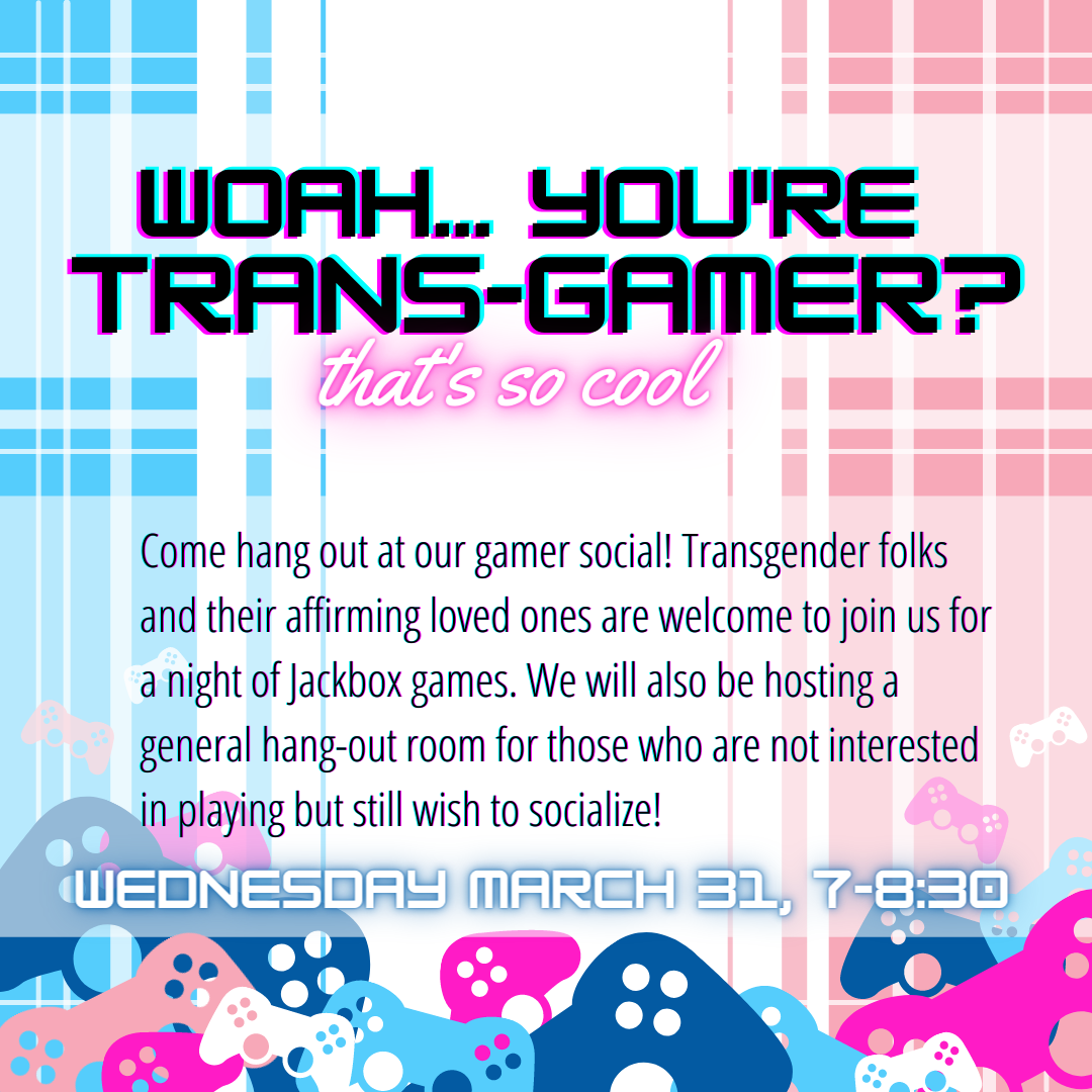 Trans Day of Visibility social event promo designed by Max Carter.